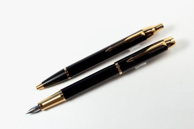パーカーIM ラックブラックGT万年筆・ボールペンセット